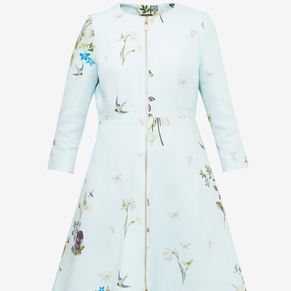 e16a331ffdb78d Ted Baker Spring Meadow Trench Coat. M 5b6cb209534ef94f1b42e2dc